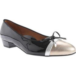 Women's ara Summer 31426 Black Patent/Champagne Metallic