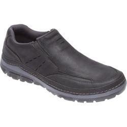 Men's Rockport Activflex Rocsports Lite Sport Slip On Black Leather