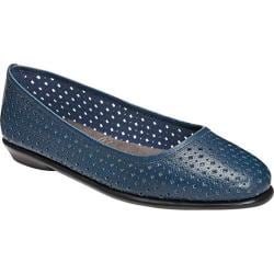 Women's Aerosoles Between Us Ballet Flat Blue Leather
