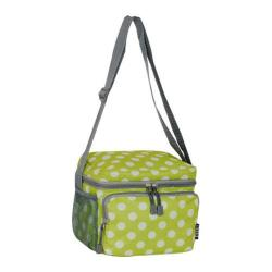 Everest Pattern Cooler/Lunch Bag Lime/White Dot