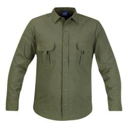 Men's Propper Summerweight Tactical LS Shirt Olive Green