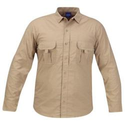 Men's Propper Summerweight Tactical LS Shirt - Long Khaki