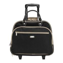Women's baggallini RTC269 Rolling Tote Black/Sand