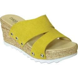 Women's Napa Flex Milano Slide Yellow Suede