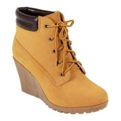 Women's Reneeze Cherry-3 Wedge Boot Tan Synthetic