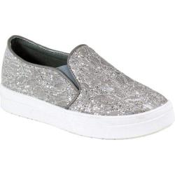 Women's Reneeze Olga-3 Glitter Slip On Sneaker Grey Synthetic