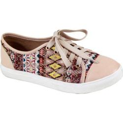 Women's Reneeze Oma-1 Tribal Lace Up Sneaker Beige Synthetic