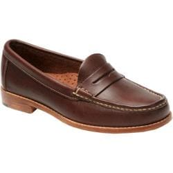 Women's Handsewn Company Penny Loafer Leather Outsole Dark Brown Leather