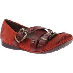 Women's OTBT Park Hills Mandarin Hunting Red Leather