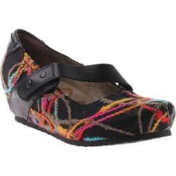 Women's OTBT Salem Black/Multi Fabric/Leather