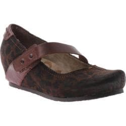 Women's OTBT Salem Java/Dark Brown Fabric/Leather