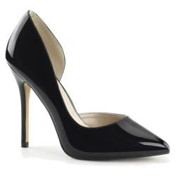 Women's Pleaser Amuse 22 Pointed Toe Pump Black Patent