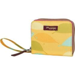 Women's Po Campo Bill Fold Wallet Yellow Feathers