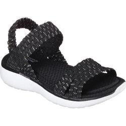 Women's Skechers Counterpart Breeze Warped Sandal Black/Silver