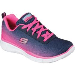 Girls' Skechers Equalizer Navy/Hot Pink