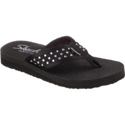 Women's Skechers Meditation Sandcastle Thong Sandal Black