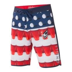 Men's O'Neill Beer Pong Scallop Shorts Red