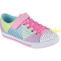 Girls' Skechers Twinkle Toes Chit Chat Shimmy Shreds Light Up Shoe Multi