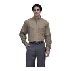 Men's Jonathan Corey Long Sleeve Performance Brushe Khaki