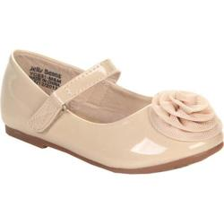 Girls' Beston Laco Ballet Flat Nude Faux Leather
