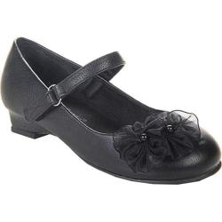 Girls' Beston Zalo Mary Jane Black Faux Leather