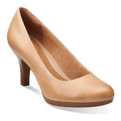 Women's Clarks Tempt Appeal Nude Leather