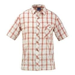 Men's Propper Covert Button-Up - Short Sleeve Brick Plaid