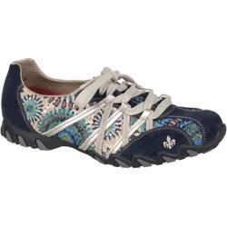 Women's Rieker-Antistress Estelle Lace Up Shoe Navy/Jeans/Marine Nubuck/Fabric