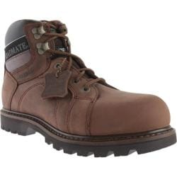Men's Roadmate Boot Co. Gravel 6in WP Steel Toe Shock Absorbing Work Boot Chocolate Brown Crazy Horse Leather