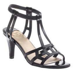 Women's Madeline Merle Ankle Strap Sandal Black Patent
