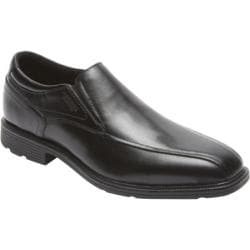 Men's Rockport Insider Details Bike Toe Slip On Black Leather