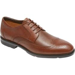 Men's Rockport City Smart Wing Tip Oxford Tan Smooth/Scotchgrain Leather