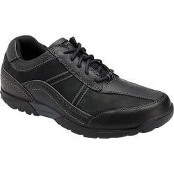 Men's Rockport City Trails Stripe Lace Up Black Full Grain Leather