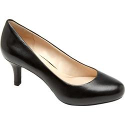 Women's Rockport Seven To 7 65mm Pump 2 Black Smooth Leather