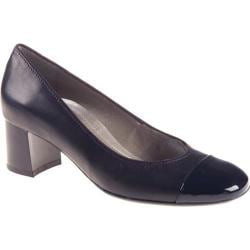 Women's ara Lian 36630 Navy Leather/Patent Toe
