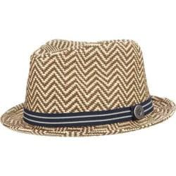 Men's Ben Sherman Herringbone Straw Trilby Natural