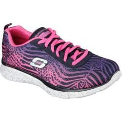 Women's Skechers Equalizer Surf Safari Training Shoe Navy/Hot Pink