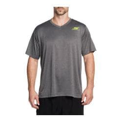 Men's Skechers Fluid V Neck Sport Tee Shirt Charcoal