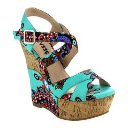 Women's Da Viccino Flamingo Wedge Sandal Aqua Multi