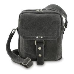 David King Leather 6452 Distressed Shoulder Bag Grey