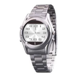 Carepeutic Hidden Pedometer Gentlemen Dress Watch Grey