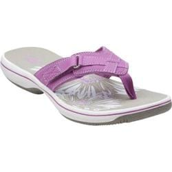 Women's Clarks Breeze Sea Sandal Purple Synthetic