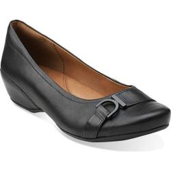 Women's Clarks Concert Band Black Leather