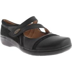 Women's Clarks Evianna Crown Black Leather