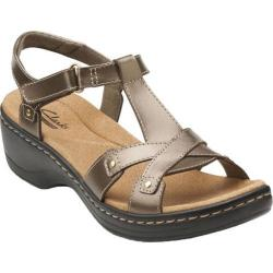 Women's Clarks Hayla Flute Pewter Leather