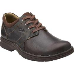 Men's Clarks Senner Place Dark Brown Tumbled Leather