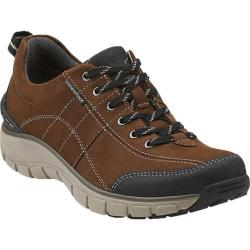 Women's Clarks Wave.Trek Walking Shoe Brown Leather