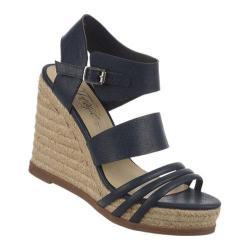 Women's Fergie Footwear Annabelle Sandal Navy Polyurethane