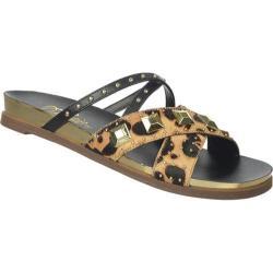 Women's Fergie Footwear Dexter Sandal Leopard Pony Hair
