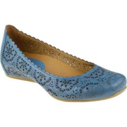 Women's Earthies Bindi Pacific Blue Full Grain Leather